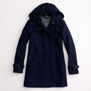 JCrew Factory Duffle Wool Coat Size 0